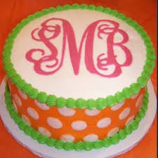 cake monograms i totally am going to to get megan to make me a monogram cake