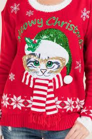 meowy christmas meowy christmas light up sweater s
