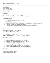 Good Programmer Resume Cics System Programmer Resume Sales Lewesmr With 21 Exciting Z Os