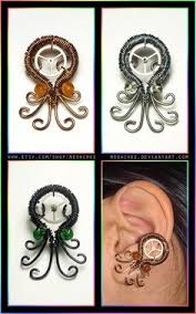 octopus ear cuff by bodaszilvia on deviantart diy ideas