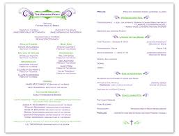 sles of wedding programs for ceremony a wedding program is a great way to include guests at the wedding
