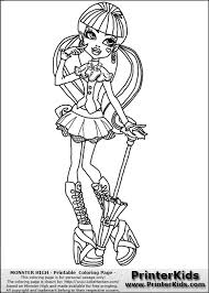 monster draculaura coloring pages getcoloringpages