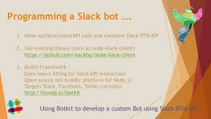 chat bots and how to build a slack bot