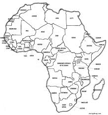 africa map another similar but sleeker looking free printable political map