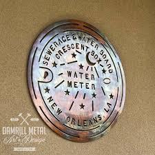 new orleans water meter new orleans water meter metal damrill metal sculpture