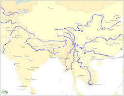 Monsoon Asia Map Southeast Asia International Rivers And East Map East Asia
