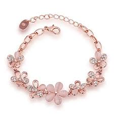 rose gold fashion bracelet images Yutii fashion jewellery rose gold crystal charm bracelet gifts for jpg
