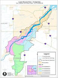 Ohio River On Map by Dsw Usepa Oepa Ffy 2010 Maumee Aoc Projects