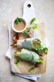 rice paper wrap blt rolls bacon lettuce and tomato roll recipe