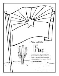 arizona flag coloring page