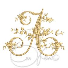 machine embroidery design victorian letter a embroidery