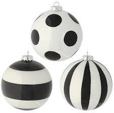 raz imports 4 glittered black and white striped and polka dot