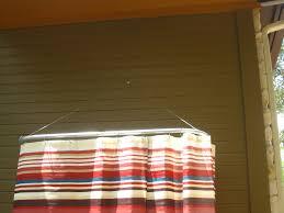 diy outdoor shower rod u2013 while everyone else is sleeping