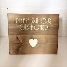 wedding sign in books wooden wedding sign to be used with our rustic guest board