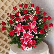 flower baskets flower basket is for congratulations business openings promoted
