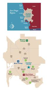 San Diego City Map by File Map Of San Diego Community College District Office And