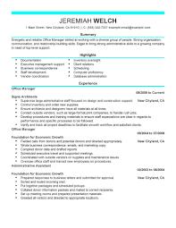Office Resume Templates Download Sample Office Manager Resume Haadyaooverbayresort Com