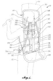 patent us6179188 external frame backpack with flexible harness
