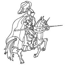 coloriage chevalier moyen age a imprimer gratuit