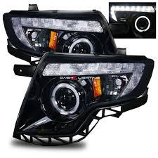 ford edge accessories 07 11 ford edge led halo projector headlights dash z racing