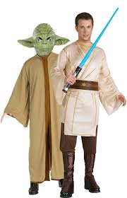 yoda and jedi star wars costume for couples couples costumes and