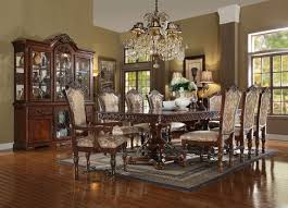 acme wycliff collection cherry double pedestal dining table with