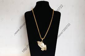 praying necklace aliexpress buy hiphop jesus praying pendant necklace