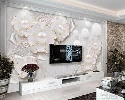 tv dans chambre beibehang papier peint mur 3 d relief de haute qualité fleur tv