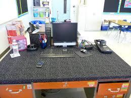 Teacher Desk Organization by Good Idea Cover My Old Wooden Desk With Fabric Teacher Desk
