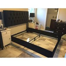 Black Tufted Bed Frame Skyline Furniture Black Velvet Tufted Bed Free Shipping Today