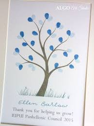 thank you cards for teachers teachers gift diy fingerprint tree classroom gift thank you