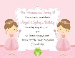 lovely disney princess party invitations with pink theme colors