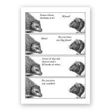 hedgehog birthday card u2013 the mincing mockingbird u0026 the frantic meerkat