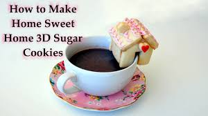 how to make home sweet home 3d sugar cookies for valentine u0027s day