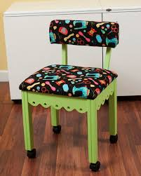 arrow cabinets sewing chair green gingerbread sewing chair with black riley blake sewing notions