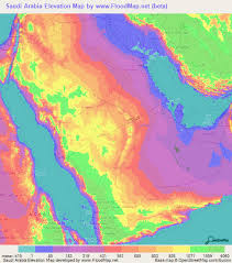 arabia map saudi arabia elevation and elevation maps of cities topographic