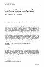 Examples Of Self Introduction Essay Self Reflective Essay Examples