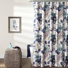 Walmart Com Shower Curtains Floral Paisley Shower Curtain Blue Walmart Com