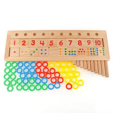 amazon com colourful montessori teaching tool math number wood