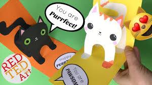 easy 3d cat pop up card diy birthday card diy valentine u0027s day