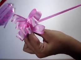 pull ribbon pull flower ribbons