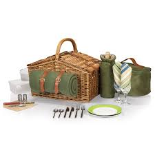 picnic basket for 2 picnic time somerset style lid