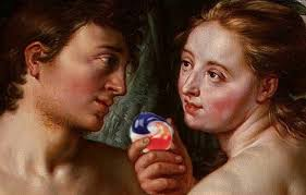 Sharing Meme - adam and eve sharing the forbidden fruit meme by stoned memedroid