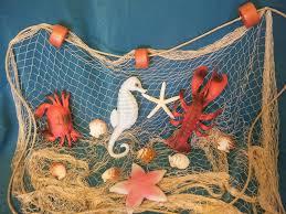 decorative fishing net set bathroom decorating with shells fish diy beach decor ideas for fishing net