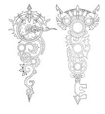 winged clock and roses tattoos sketch photo 3 real photo