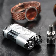 newest diy ciggo bottom feed mod starter kit mechanical box mod with bottom feeding system rda atomizer 5ml empty bottle dhl free diy
