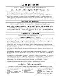 firefighter resume template firefighter resume sle