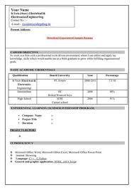 5 simple resume format for freshers doc janitor resume simple