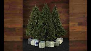 Easy Assemble Christmas Trees Fraser Hill Farm Mountain Pine 9 U0027 White Artificial Christmas Tree