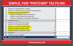 2017 earned income tax table the postcard filing a naïve misguided fantasy taxmama